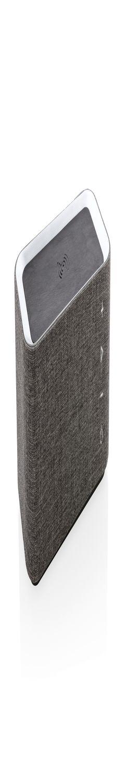 Колонка с функцией беспроводной зарядки Vogue, серый фото