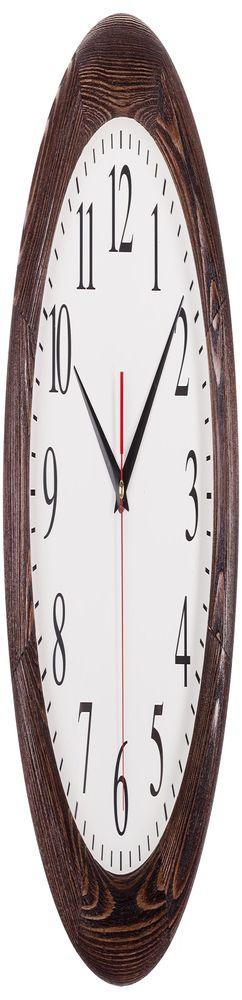 Часы настенные с деревянным ободом, мореный дуб фото