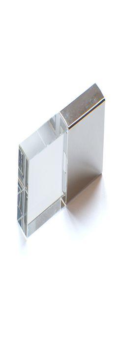 Флешка Кристалл, металлическая со стеклянной вставкой, серебристая, 16Гб фото