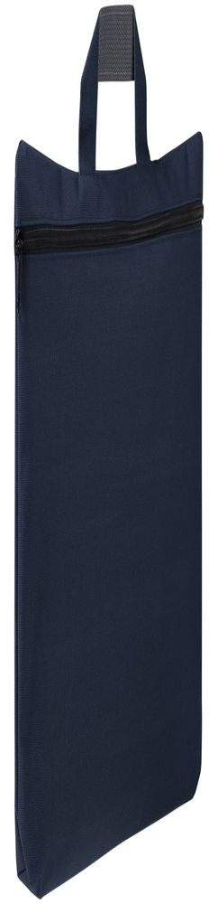 Сумка-папка SIMPLE, темно-синяя с черной молнией фото