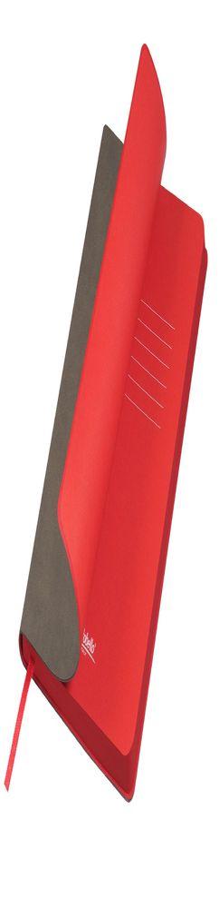 Ежедневник недатированный, Portobello Trend, Latte NEW, 145х210, 256 стр, каппучино/красный (темный срез) фото