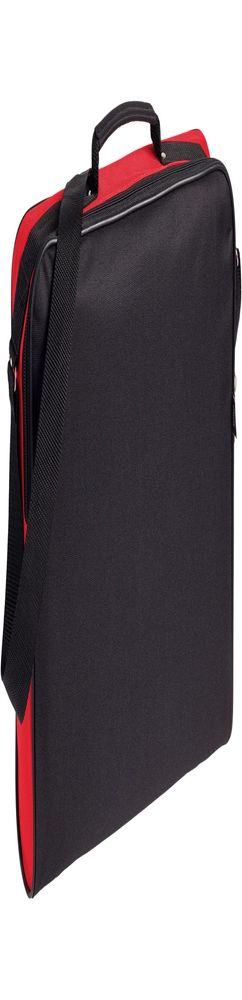 Сумка для документов Unit Metier, черная с красной отделкой фото