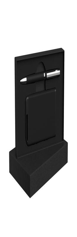 Набор ручка + зарядное устройство 4000 mAh в футляре, покрытие soft touch фото