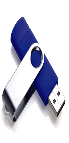 Флешка адаптер OTG Дабл твист, пластиковая, синяя, 8Гб фото