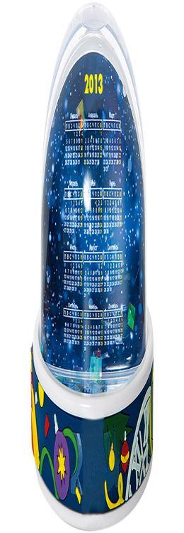 Пресс-папье «С Новым Годом!» Стоит его встряхнуть, и перед глазами падает словно самый настоящий снег. Календарь и картинка меняются одним движением на любую фотографию или логотип (70х61 мм) фото