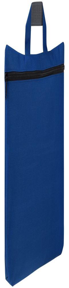 Сумка-папка SIMPLE, ярко-синяя с черной молнией фото