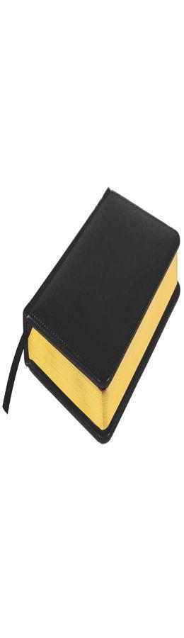 Ежедневник датированный Joy, А5,  черный, белый блок, золотой обрез фото