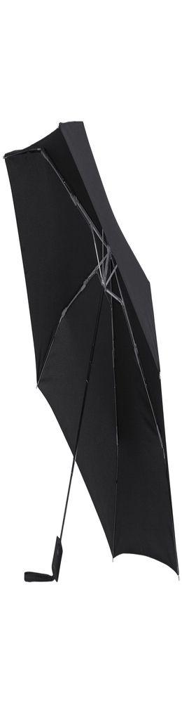 Зонт складной R-Plu, автомат, черный фото