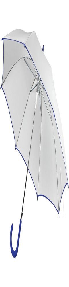 Зонт-трость Unit White, белый с синим фото