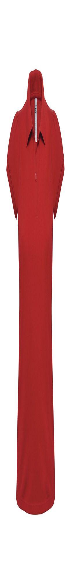 Рубашка поло женская Heavymill красная фото