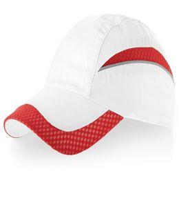 Бейсболка Qualifier, 6 клиньев, белый/красный фото