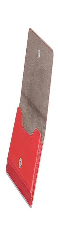 РАСПРОДАЖА Визитница для своих визиток, натуральная кожа,Everest, 100 х 75 мм, красный/бежевый, гладкая фактура фото
