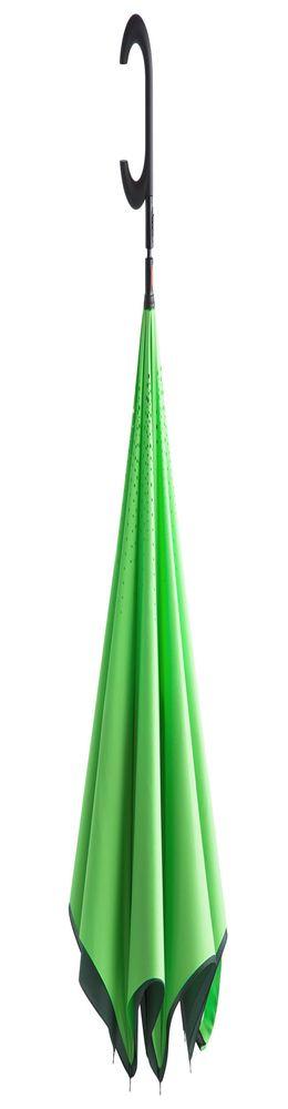 Зонт наоборот Unit ReStyle, трость, зеленый фото