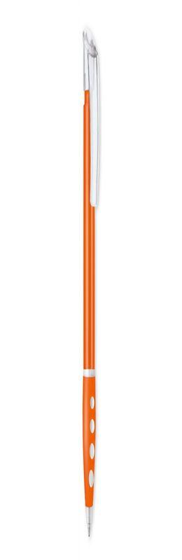 Авторучка BUBBLE TRANSPARENT, оранжевая фото