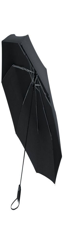 Зонт складной AOC, черный фото