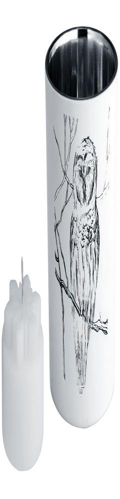 Подсвечник со свечой Forest, с изображением совы фото