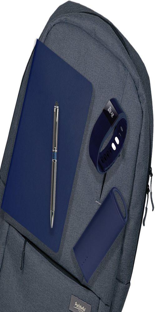 Подарочный набор Super-set-Portobello (рюкзак, внешний аккумулятор, смарт браслет, ежедневник А5, ручка) фото