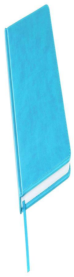 Ежедневник недатированный Bliss, А5,  голубой, белый блок, без обреза фото
