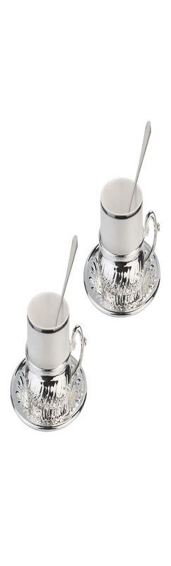 CHINELLI Набор для чая на 2 персоны, серебрение фото