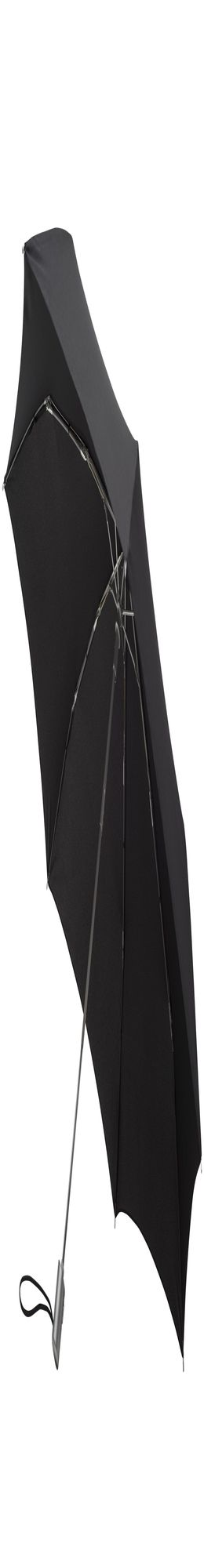 Складной зонт Alu Drop, 3 сложения, 7 спиц, автомат, черный фото