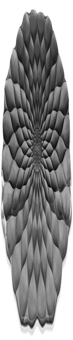Блюдо-поднос Black Lotus, черное фото