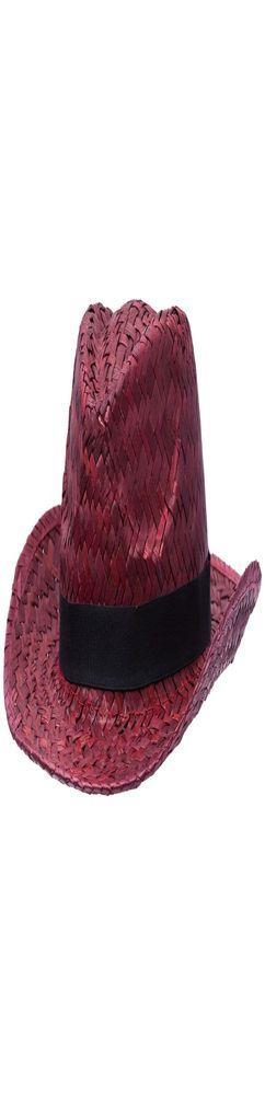 Шляпа Daydream, красная с черной лентой фото