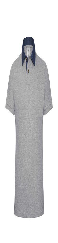 Рубашка поло мужская DNM Forward серый меланж/синий джинс фото