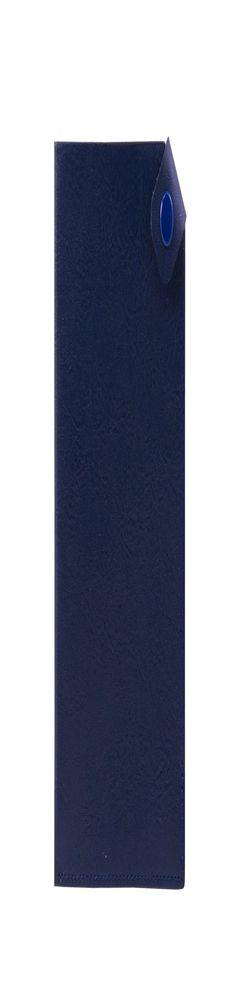 Чехол для паспорта PURE 140*90 мм., застежка на кнопке, натуральная кожа (фактурная), синий фото