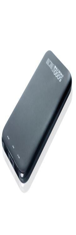 Универсальное зарядное устройство PARTNER SLIM, 5000 mah черный фото