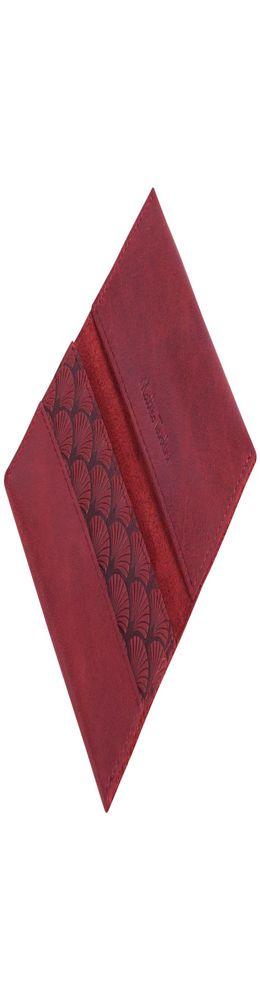 Футляр для визиток Letizia, бордовый фото