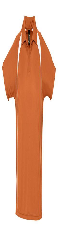 Спортивная рубашка поло Palladium 140 оранжевая с белым фото