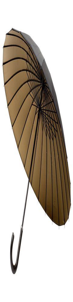 Зонт-трость Ella, черный с бронзовым фото
