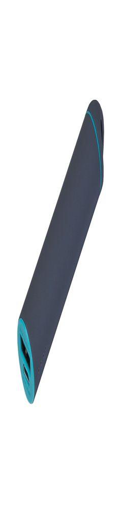Внешний аккумулятор, Travel PB, 2000 mAh, пластик, покрытие-soft touch, 92х23х23 мм, серый/мятный фото