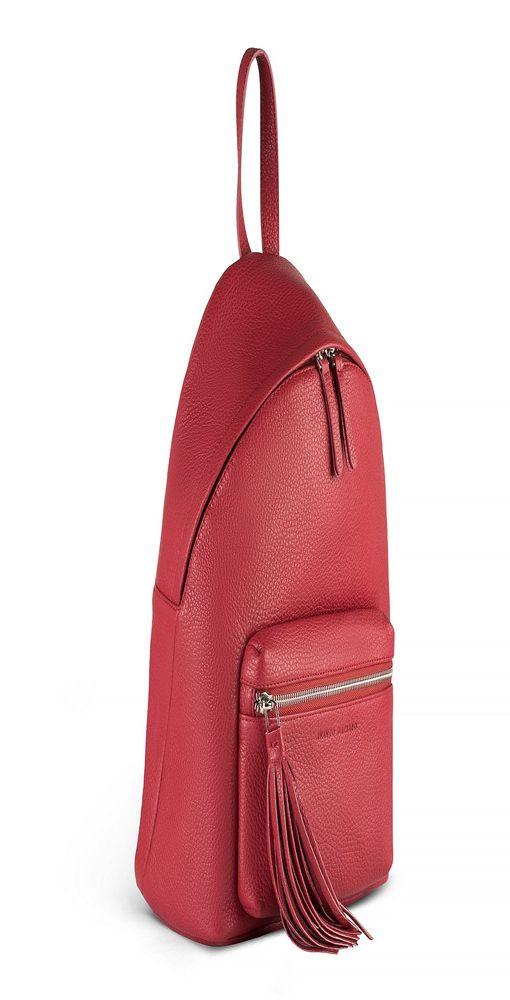 Рюкзак с объёмным карманом, 270х350х100 мм, красный фото