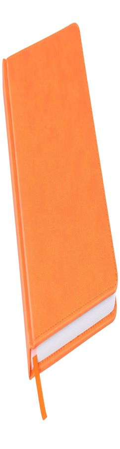 Ежедневник недатированный Bliss, А5,  оранжевый, белый блок, без обреза фото