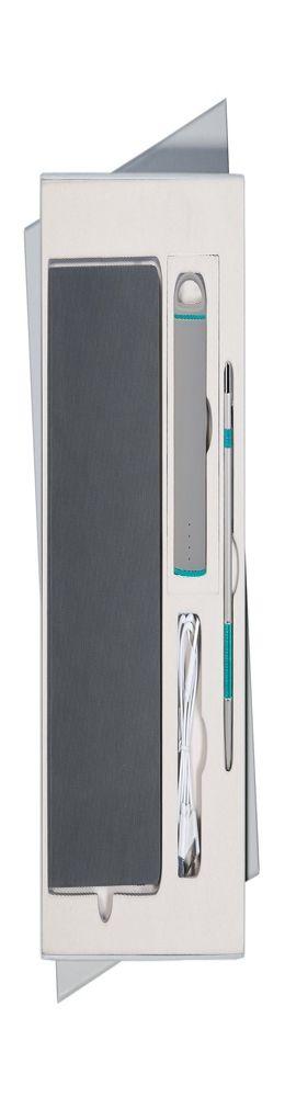 Подарочный набор Portobello/Rain серый (Ежедневник недат А5, Ручка, Power Bank) фото