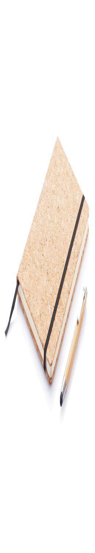 Блокнот Cork на резинке с бамбуковой ручкой-стилусом, А5 фото