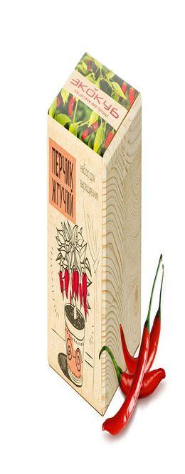 Набор для выращивания «Экокуб», перчик жгучий фото