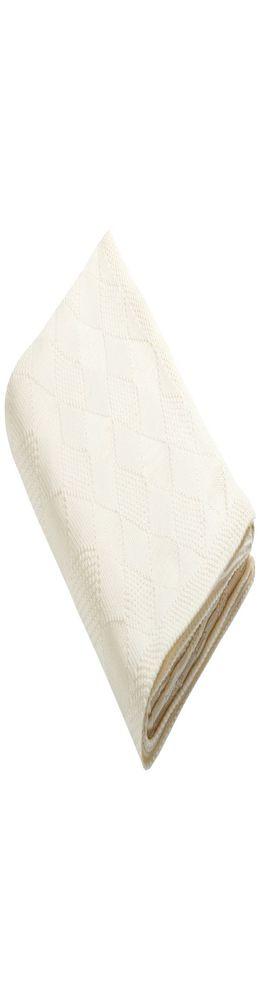 Плед Diamond, молочно-белый фото
