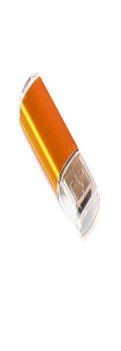 Флешка Симпл прямоугольная, пластиковая с металлической вставкой, золотая, 8Гб фото