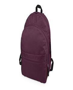 """Рюкзак """"Trend""""  с двумя отделениями на молнии и внешним карманом, фиолетовый фото"""