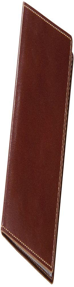 Обложка для автодокументов, коричневая фото