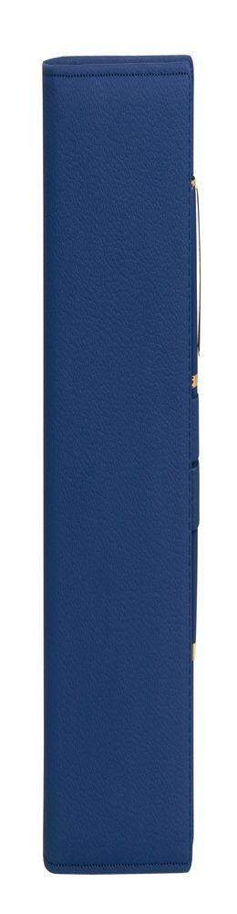Ежедневник-портфолио Clip недатированный, синий и ручка Opera (синий/золото) фото