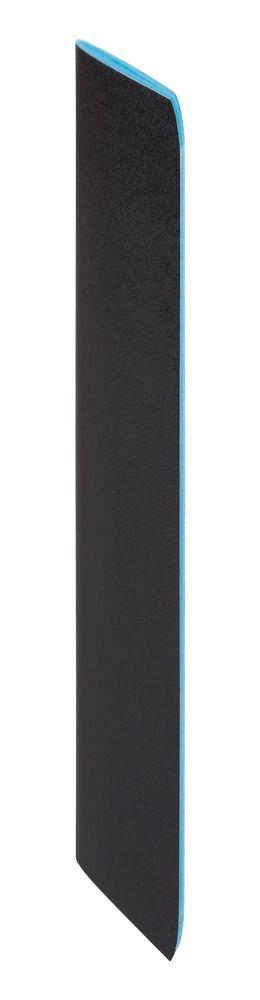 Блокнот Excentrica, черный с голубым фото