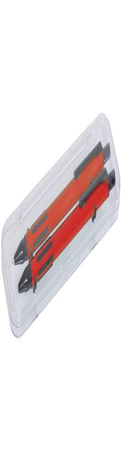 FUTURE Набор ручка и карандаш в прозрачном футляре, красный фото