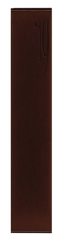 Ежедневник PORTLAND 5459 (650) 145x205 мм, коричневый, крем.блок, золот.срез,красно-черная граф 2019 фото