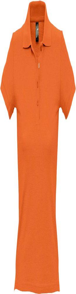 Рубашка поло женская PEOPLE 210, оранжевая фото