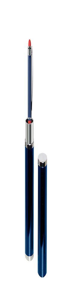 Шариковая ручка, Aurora, нажимной мех-м,корпус-алюминий,синий/отделка-гравировка,красное кольцо, в тубусе фото