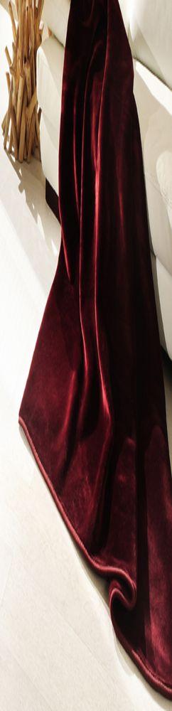 Плюшевый плед DeLuxe, бордо фото