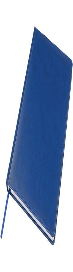 Ежедневник недатированный Bliss, А4,  синий, белый блок, без обреза фото